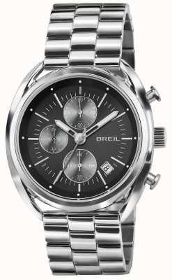 Breil Beaubourg Edelstahl Chronograph schwarzes Zifferblatt Armband TW1514