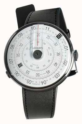 Klokers Klok 01 schwarzer Uhrenkopf schwarzer Satin-Einzelarmband KLOK-01-D2+KLINK-01-MC1