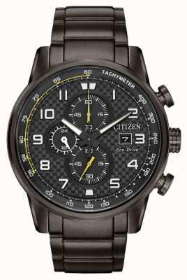 Citizen Herren Sport Chronograph grau ip plattiert Armband CA0687-58E
