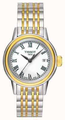 Tissot Carson Womens Quarz zwei Ton Swiss Made Datum T0852102201100
