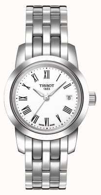 Tissot Klassisches Traum-Zifferblatt aus weißem Edelstahl-Armband T0332101101300