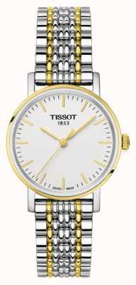 Tissot Womens jedes Mal zweifarbig Armband vergoldet T1092102203100