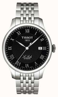 Tissot Herren le loce powermatic 80 schwarzes Zifferblatt aus Edelstahl T0064071105300