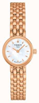 Tissot Womens schönes roségold pvd plattiertes Moppzifferblatt T0580093311100