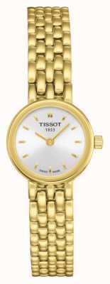 Tissot Womens schönes vergoldetes Armband mit silbernem Zifferblatt T0580093303100