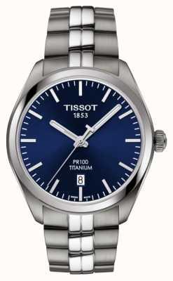 Tissot Herren Pr100 Titan Blue Dial Quarz T1014104404100