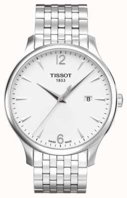 Tissot Mens Tradition Edelstahl Armband Silber Zifferblatt T0636101103700