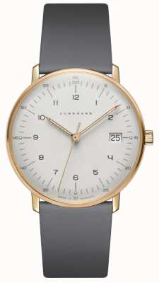 Junghans Max Rechnung Damen Quarz grau Leder Uhr 047/7854.00