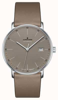 Junghans Bilden Sie eine automatische braune Lederbanduhr 027/4832.00