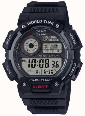 Casio Klassischer Weltzeitalarm Chronograph AE-1400WH-1AVEF