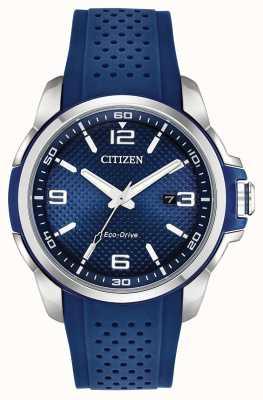 Citizen Ar blau Harz Datumsanzeige Edelstahlgehäuse AW1158-05L
