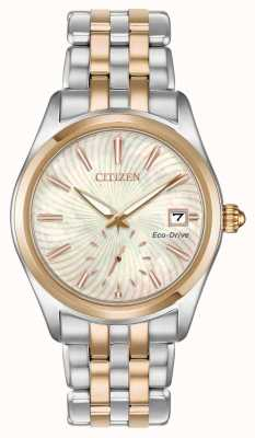 Citizen Damen-Two-Ton Perlmutt Wirbel Zifferblatt Datum EV1036-51Y