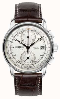 Zeppelin 100 Jahre Chronograph Datumsanzeige Edelstahlgehäuse 8670-1