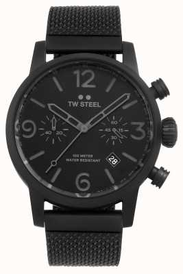 TW Steel Maverick Kaliber Chronograph schwarzes Mesh-Armband schwarzes Zifferblatt MB33