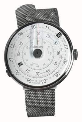 Klokers Klok 01 schwarzer Uhrenkopf aus Stahl-Milanoband KLOK-01-D2+KLINK-05-MC1