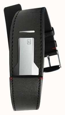Klokers Klink 01 Satin schwarzes Armband nur 22mm breit 230mm lang KLINK-01-MC1