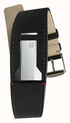 Klokers Klink 01 matt schwarzes Armband nur 22mm breit 230mm lang KLINK-01-MC2