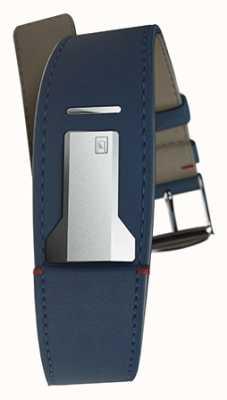 Klokers Klink 01 indigoblaues Armband nur 22mm breit 230mm lang KLINK-01-MC3