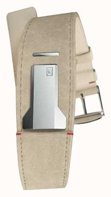 Klokers Klink 01 graues Alcantara Armband nur 22mm breit 230mm lang KLINK-01-MC6