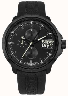 Superdry Kyoto Ranger schwarzes Armband schwarzes Zifferblatt SYG218BB