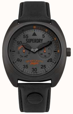 Superdry Scout Flieger Date & Day Display schwarzer Gurt SYG229BB