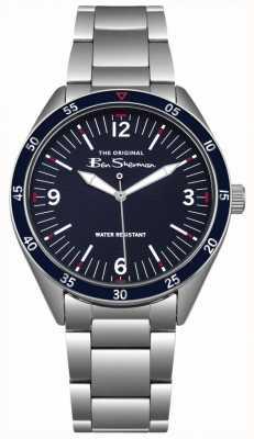 Ben Sherman Navy blue Zifferblatt Silber Edelstahlgehäuse und Armband BS007USM