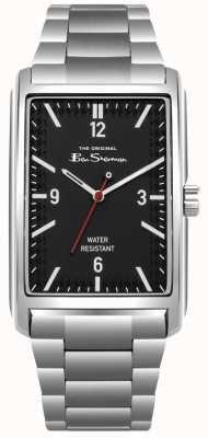 Ben Sherman Schwarzes Zifferblatt Edelstahlgehäuse und Armband BS013BSM