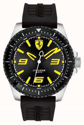 Scuderia Ferrari Xx kers schwarzes Zifferblatt schwarz ip-beschichtetes Gehäuse schwarzes Kautschukarmband 0830487