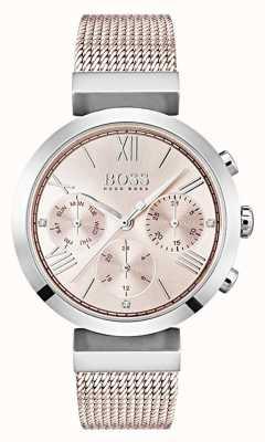 Boss Chronograph rosa Zifferblatt Tag & Datum Hilfszifferblätter 1502426