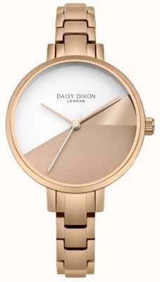 Daisy Dixon Damen Ava Rose Gold dreifarbiges Zifferblatt Roségold Armband DD065RGM