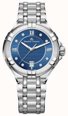 Maurice Lacroix Womens Aikon 35mm Edelstahl blaues Zifferblatt AI1006-SS002-450-1