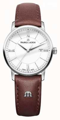 Maurice Lacroix Damen Eliros braun Lederband silber Dialladies EL1094-SS001-110-1