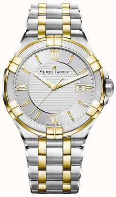 Maurice Lacroix Zweifarbiges Herren Aikon Armband vergoldet AI1008-PVY13-132-1