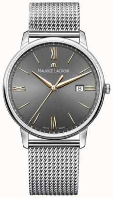 Maurice Lacroix Herren Eliros Mesh Armband schwarzes Zifferblatt Gold Akzente EL1118-SS002-311-1
