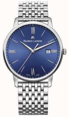 Maurice Lacroix Eliros Mens blaues Zifferblatt Edelstahlarmband EL1118-SS002-410-2