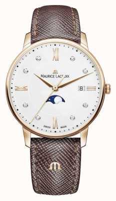 Maurice Lacroix Eliros Mondphase braunes Lederband rosévergoldet EL1096-PVP01-150-1