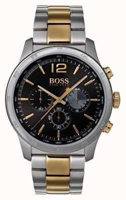 Hugo Boss Chronograph Herrenuhr mit zweifarbigem Armband 1513529