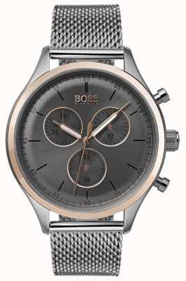 Hugo Boss Herren Begleiter Chronograph Uhr grau 1513549