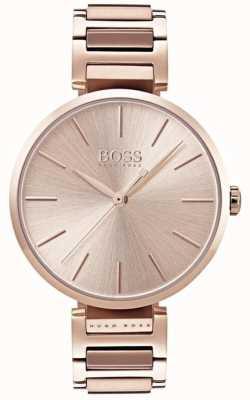 Hugo Boss Damen Anspieluhr Roségold Ton 1502418