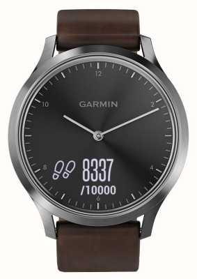 Garmin Vivomove HR Premium Aktivitäts-Tracker Stahl / Leder 010-01850-04