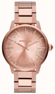 Diesel Damen castilla rose goldfarbene Armband Glitzer Zifferblatt Uhr DZ5567