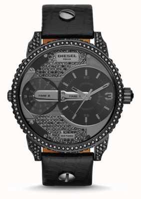 Diesel Herren Mini Daddy schwarz Lederband Uhr DZ7328