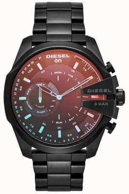Diesel Mens Megachief Hybrid Smartwatch Eisen überzogenes Armband DZT1011