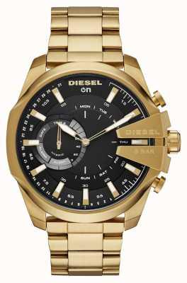 Diesel Mens Megachief Hybrid Smartwatch Goldton Armband DZT1013