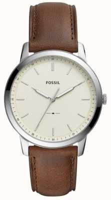Fossil Mens die minimalistische braune Lederarmbanduhr FS5439