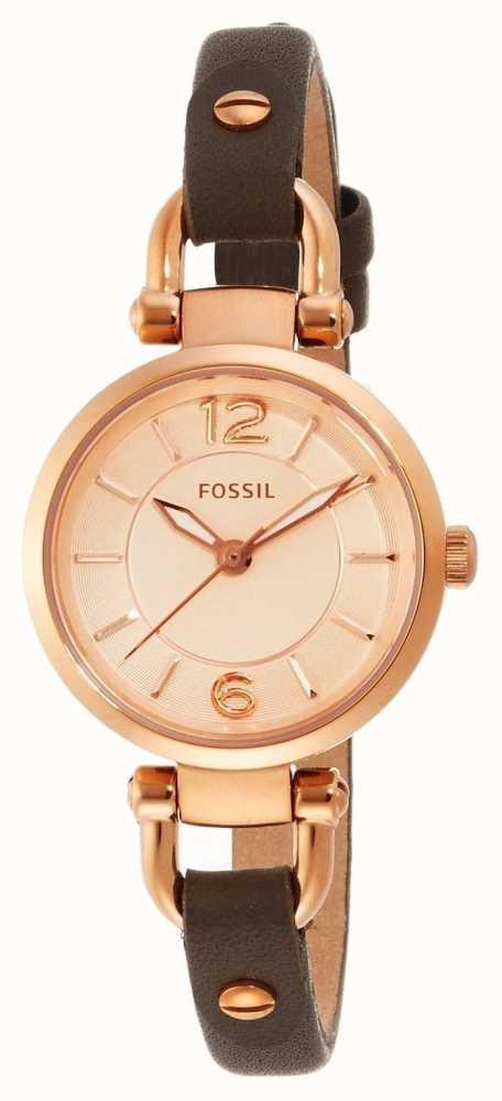 Es3862 Lederband Georgia Für Class Watches Fossil Damen First ZTOlkXwPiu