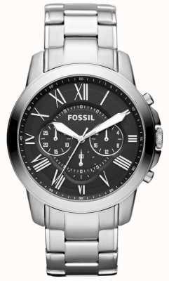 Fossil Herren gewähren Edelstahlarmband FS4736IE
