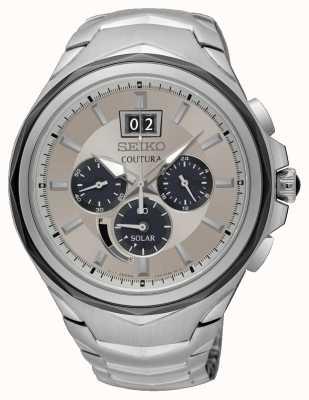 Seiko Herren Coutura Chronograph Datumsanzeige aus Edelstahl SSC627P9