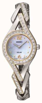 Seiko Frauen-Cocktail-Kristall-Set Perlmutt-Zifferblatt SUP174P9
