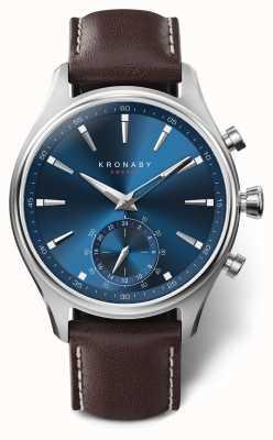 Kronaby 41mm sekel blaues Zifferblatt braunes Lederband A1000-3120